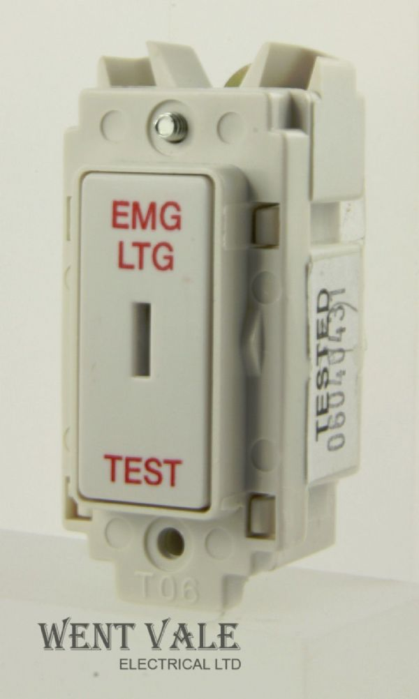 Newlec NL8820/2SP ELT - 20a Double Pole Key Grid Switch Module EMG LTG TEST New